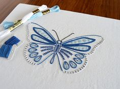 Anatomical Butterfly One of eight embroidered insects The design measures 7½ x 4½ inches (19 x 12cm). This is a six-page hand embroidery pattern in PDF format, which will be available as a digital download from your Etsy Purchases as soon as payment has cleared. ** How to find