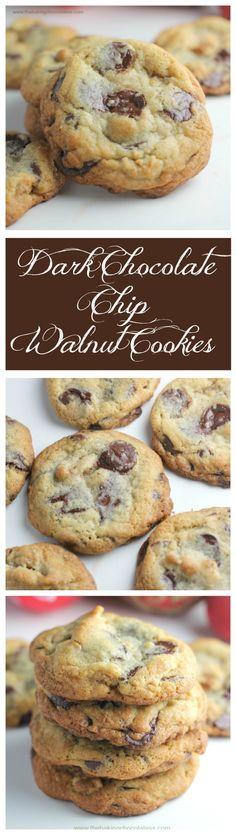 The Baking ChocolaTess | Ultimate Dark Chocolate Chip Toffee Walnut Cookies | http://www.thebakingchocolatess.com