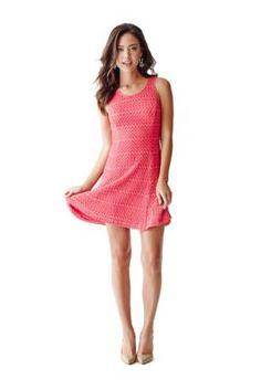 Renee Sleeveless Crochet Dress | GUESS.ca