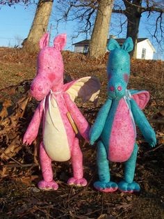Large Stuffed Dragon | XXL Extra Extra Large Dragons SET Stuffed Dragons by MadeSewLovely, $ ... Cute Stuffed Animals, Dinosaur Stuffed Animal, Dragon Pattern, Toy Dragon, Dragons, Garden Sculpture, Plush, Pink Yellow, Toys