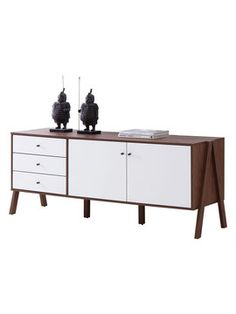 Harlow Mid-Century Scandinavian Sideboard Storage Cabinet from Apartment on a Budget on Gilt