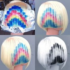 The pixelation colour trend is so much fun. I am doing a course including how to do this technique at the Facility Hair Academy on April 20. should be a lot of fun.