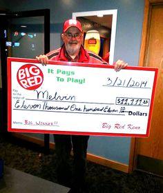 Melving won $11,111 playing Big Red Keno!