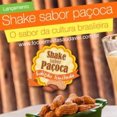Shake Paçoca, Corra ao EVS experimentar, que tal? #vidaativaesaudavel #focoemvidasaudavel