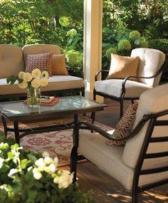 outdoor furniture for the sun room Outdoor Seating, Outdoor Rooms, Outdoor Dining, Outdoor Kitchens, Outdoor Ideas, Wood Patio Furniture, Outdoor Furniture Design, Backyard Retreat, Backyard Paradise