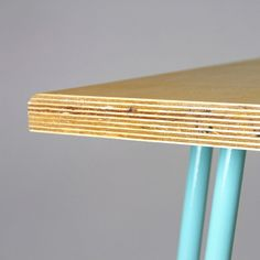 Birch-ply dining table with Industrial hairpin by CordIndustries