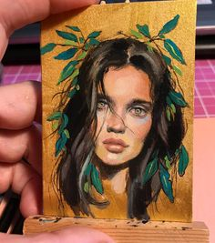 "Jel Ena (@jel_ena_art) on Instagram: ""Study XIII 2.5 x 3.5 in. #aceo Oil on Fabriano paper Sold"""