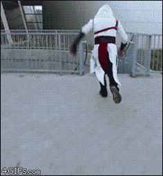 BADASS GIF altelia-bellerina:  ask-thepastaguy:  il-amente-falso:  (HOW THE FUCK-)  [HOLY SHIT— BEST COSPLAYER!!]