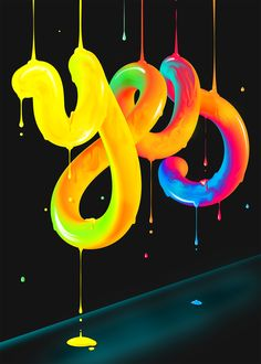 YES. Lettering Experiment | Abduzeedo Design Inspiration