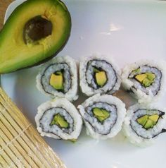 Avocado Roll and other Sushi Rolls