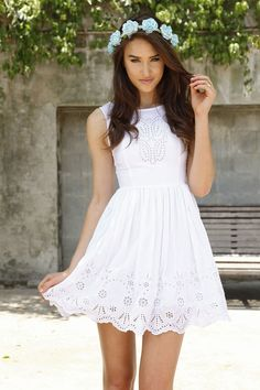 White Confirmation Dresses for Adults Grad Dresses, Casual Dresses, Short Dresses, Summer Dresses, Formal Dresses, Winter Dresses, White Eyelet Dress, White Sleeveless Dress, Eyelet Lace
