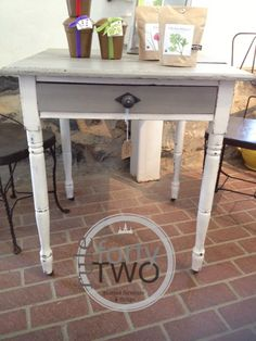 CeCeu0027s Seattle Mist And Vintage White Table Painted At Rule Forty Two In  Staunton,
