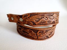 Size 28 71 cm Belt Strap, Vintage Chambers Tan Tooled Leather for Boyville, Southwestern Country Western Wear Boho, ID 507633307 by LaBelleBelts on Etsy