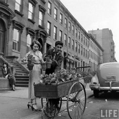 bygoneamericana:  Spring comes to Brooklyn. New York, 1949. By Ralph Morse