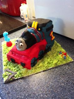3d thomas cake, this was one of the hardest cakes as a beginner.
