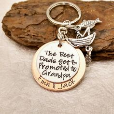 Check out this item in my Etsy shop https://www.etsy.com/listing/153225255/best-grandpa-keychain-hand-stamped