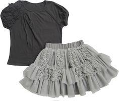 Isobella & Chloe Somerset Grey Top and Skirt Set $44