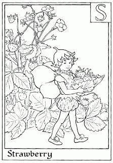 Letter S For Strawberry Flower Fairy Coloring Page - Alphabet Coloring Pages, Alphabet Flower Fairies On do Coloring Pages Fairy Coloring Pages, Christmas Coloring Pages, Adult Coloring Pages, Coloring Sheets, Coloring Books, Free Coloring, Kids Coloring, Coloring Letters, Alphabet Coloring Pages