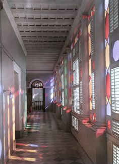 A colorful hallway in Casa Blanca, the Puerto Rican Governor's Palace, December 1924.Photograph by Charles Martin, National Geographic