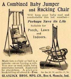 1899 Ad Glascock Combined Baby Jumper Rocking Chair - ORIGINAL ADVERTISING
