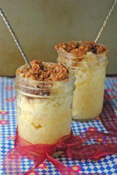 5 Minute (Microwave) Coffee Cake in a Jar ~ #SundaySupper Desserts In Jars Summer Tour! | Juanita's Cocina