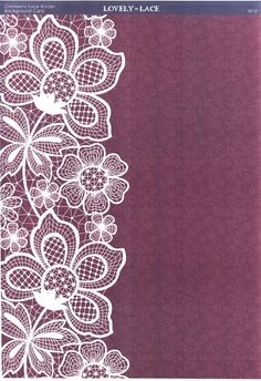Kanban Crafts - Lovely in Lace die cut toppers and co-ordinating card and paper