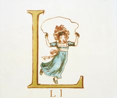 Letter 'L' from Kate Greenaway's Alphabet Book