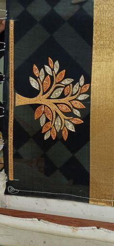 Aari Embroidery, Hand Embroidery Videos, Bead Embroidery Patterns, Hand Embroidery Flowers, Hand Work Embroidery, Simple Hand Embroidery Designs, Traditional Blouse Designs, Cutwork Blouse Designs, Hand Work Blouse Design