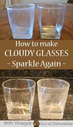 Because of the hard water, glasses become cloudy and stained. So, to give