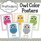 This set of Color Owl Posters will brighten up your classroom. Each poster has a colored owl with matching chevron border. Perfect if you use an ow...