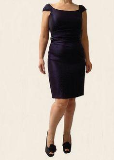 London Times Cap-Sleeve Sheath Dress