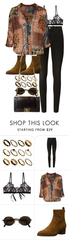 """""""Untitled #10511"""" by nikka-phillips ❤ liked on Polyvore featuring ASOS, J Brand, Hanky Panky, Boohoo, Moschino, Via Spiga and Chanel"""