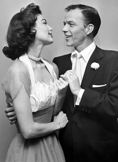 Ava Gardner and Frank Sinatra on their wedding day, 1951. A great couple, they had such a torrid time together.