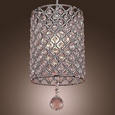 29.95 New Modern Crystal Ceiling Light Pendant Lamp Fixture Lighting Chandelier W | eBay