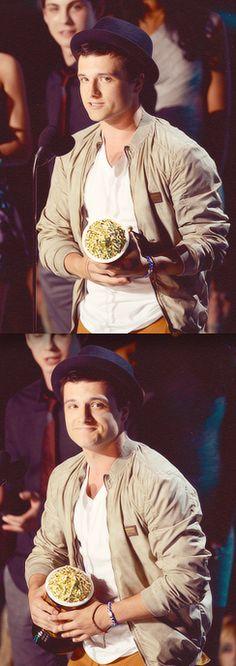 Josh Hutcherson Wins Best Male Performance at the #MTVMovieAwards!