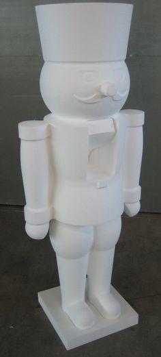 Nutcracker statues christmas decorations! Nussknacker Deko Objekt (unlackiert) - Styroporkleber TensorGrip® H50.