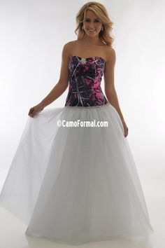 Camo Formal has beautiful camo formal wear for all occasions and, for a limited time only, 10% OFF your order of $751 or more using PROMO CODE: ORDER750 #MuddyGirl | bit.ly/MuddyGirl_BallGown Camo Formal, Formal Wear, Strapless Dress Formal, Prom Dresses, Formal Dresses, Muddy Girl Camo, Camo Dress, Pink Camouflage, Pink Girl