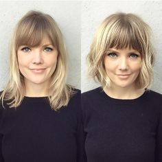 62 Popular Short Hairstyles for Fine Thin Hair (+ 3 Tips for CRAZY Volume) - bob hairstyles for fine hair Short Thin Hair, Short Hair With Bangs, Short Hair Cuts, Blonde Bob With Bangs, Fine Hair Bangs, Bob With Fringe Fine Hair, Cute Short Hair, Bobs For Fine Hair, Short Fringe Bangs