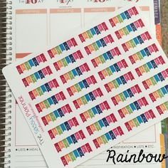 NEW! Day Off Banner Stickers for Erin Condren Life Planner - set of 32