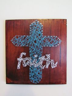 Faith Cross String Art by BandTEndlessCrafts on Etsy, $27.00