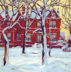 RT Toronto in winter ~ Lawren Harris -- Group of Seven Les paysages urbains ne… Group Of Seven Artists, Group Of Seven Paintings, Tom Thomson, Emily Carr, Canadian Painters, Canadian Artists, Landscape Art, Landscape Paintings, Landscapes