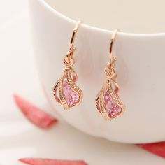 ZOSHI Fashion Gold Plated Earrings for Women Long Stud Earing Crystal CZ Zircon Statement Wedding Wholesale Jewelry