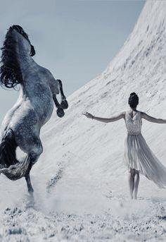 Horse, Desert, Woman