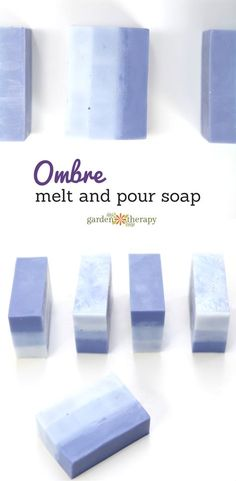 The best DIY projects & DIY ideas and tutorials: sewing, paper craft, DIY. Best Diy Crafts Ideas For Your Home This attractive ombre melt and pour soap is lightly scented with lavender and moisturizing with rich shea butter and Bath Soap, Bath Salts, Soap Melt And Pour, Diy Beauté, Diy Crafts, Savon Soap, Shea Butter Soap, Soap Making Supplies, Homemade Soap Recipes