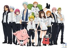 The Seven Deadly Sins. I just got into this show a year ago and already have two tattoos. When I obsess, I do it to the extreme. Amazing show. Funny and some good action and storylines. This picture is amazing because of Hawk in his little tux thing.