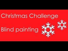 My Christmas Special, Blind Painting Challenge. #indian #youtuber