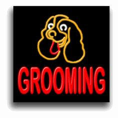 Dog Grooming Neon Sign Power cords are 6' long. We supply the hanging hardware you will need to get your sign up and working for you. 1 year warranty on all components, two year warranty available for an extra charge.