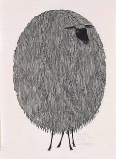 The Sheep, a woodcut by Ukrainian artist Jacques Hnizdovsky