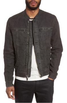 Main Image - John Varvatos Star USA Band Collar Linen Jacket