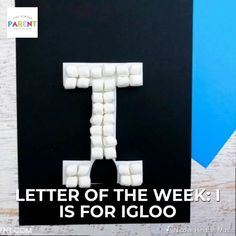 Letter of the Week Crafts - Letter I Craft: I is for Igloo. Use this letter I activity as part of your preschool letter of the week alphabet or use it when you study cold weather, ice and other science concepts! Preschool Letter Crafts, Alphabet Letter Crafts, Abc Crafts, Kindergarten Crafts, Daycare Crafts, Toddler Crafts, Crafts For Kids, Preschool Art, Letter Art